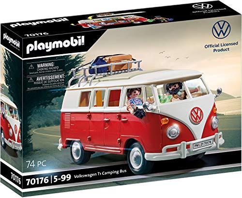 PLAYMOBIL Volkswagen 70176 T1 Camping Bus, Für Kinder ab 5 Jahren