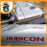JoeMonkey - Pegatinas para carrocería, 2 unidades, para Jeep Rubicon Wrangler TJ Rubicon rojo y negro
