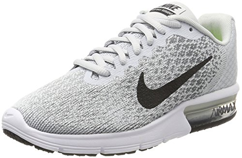 Nike Women's Air Max Sequent 2 Running Shoe (6, Pure Platinum/Black/Cool Grey/Wolf Grey)