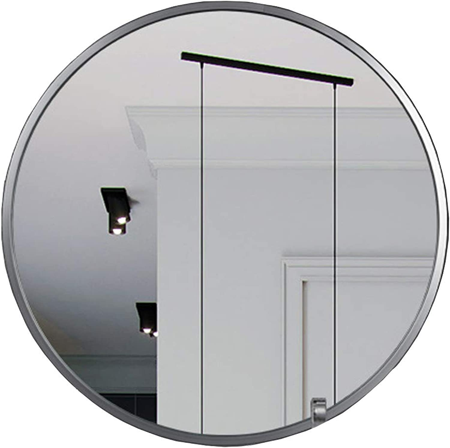 Decorative Mirror Bathroom Round Silver Metal Frame Wall Mirrors Vanity Shave Shower Makeup Mirror for Entry Dining Room Living Room (12Inch-32Inch)