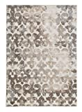 Signature Design by Ashley Jiro 8 x 10 Foot Large Area Rug, High & Low Pile, Brown & Cream
