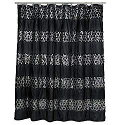 Black Shower Curtain - Sinatra Collection
