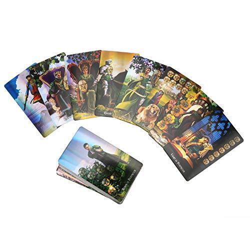 78 Cartas del Tarot - Bruja Barajas de Cartas del Tarot Tarjeta de AdivinacióN del Destino HolográFico Cartas de Tarot Juguete de AdivinacióN para Principiantes Adulto NiñOs(Brujas)