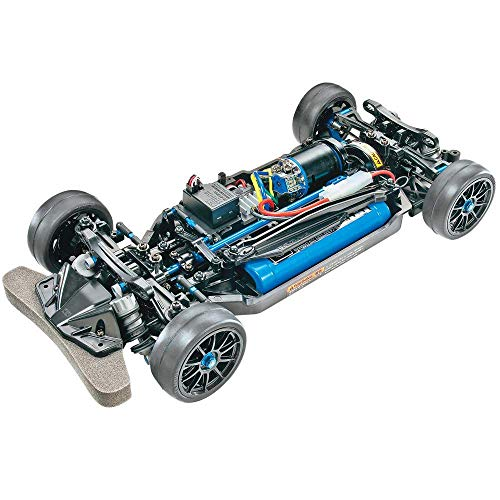 TAMIYA 47326 47326-1:10 RC TT-02R Kit, ferngesteuertes Auto/Fahrzeug, Modellbau, Bausatz, Chassis, Hobby, schwarz