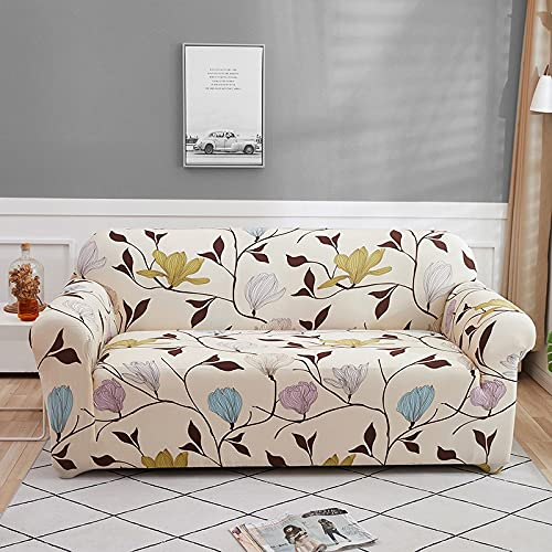 WXQY Fundas con Estampado Floral Funda de sofá elástica elástica Funda de sofá con protección para Mascotas Funda de sofá con Todo Incluido en Forma de L A5 1 Plaza