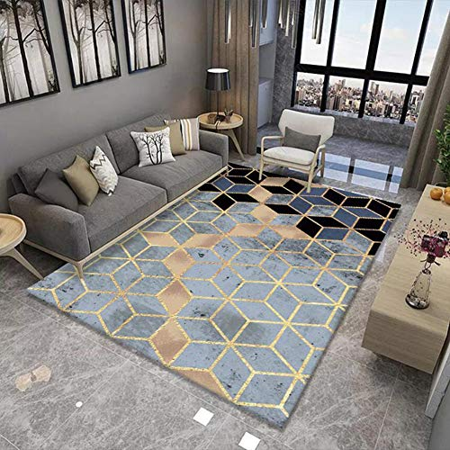 WZJ-CARPET Modern Geometric Area Rugs is Suitable for Bedrooms, Children's Rooms, Daycares, Living Rooms, Home Decoration Non-Slip Carpets (Color : D, Size : 2.6'x3.9')
