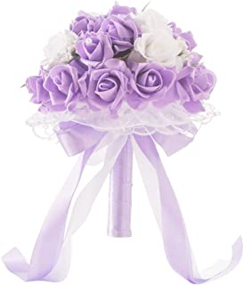 Best purple yellow and white bridal bouquets Reviews