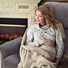 BONZY Classic Power Lift Chair Soft and Warm Fabric with Remote Control for Gentle Motor, Gray #3