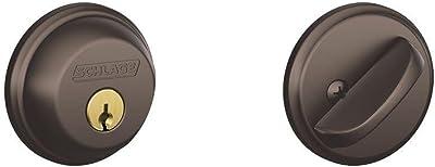 Single Cylinder Deadbolt in Oil Rubbed Bronze - B60N 613