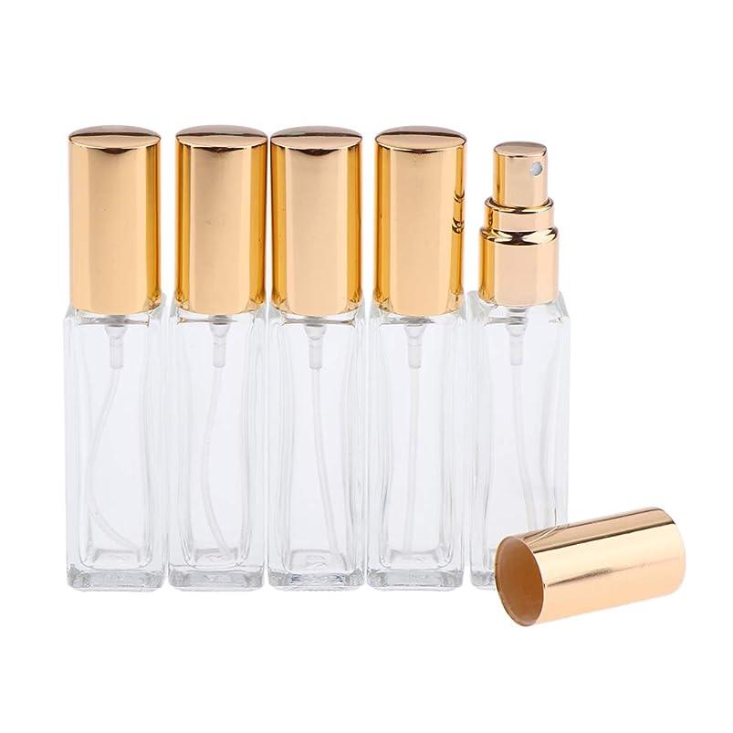大学院アナニバー石油SM SunniMix 香水ボトル ガラス DIY コスメ 詰替え容器 ミスト スプレーボトル 5本入り 全3色 - ゴールデン