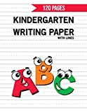Kindergarten Writing Paper with Lines: 120 Blank Handwriting Practice Paper with Dotted Lines For Students Learning to Write Letters