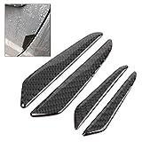 GZYF 4 pcs Black Car Carbon Fiber Side Door Edge Scratch Protector Compatible wtih Mercedes Benz