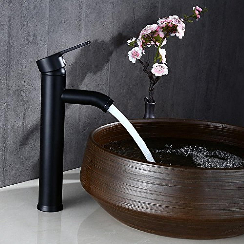 Küchenarmatur Waschtischarmatur Wasserfall Wasserhahn Badarmatur Waschbecken Schwarzer Edelstahl über Aufsatzwaschbecken Wasserhahn Waschbecken unter Aufsatzwaschbecken heier und kalter Wasserhahn
