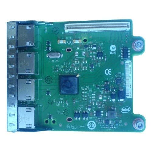 Dell 540-BBHF I350 QP Netzwerkadapter-Set für Tochterkarte, 1 GB, für PowerEdge-R620, Schwarz