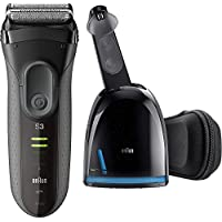 Braun Series 3 ProSkin 3070cc Electric Foil Rechargeable Shaver With Clean & Charge Station