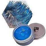 Cera para el cabello unisex cera pelo natural temporal se puede lavar una vez Aplicar a fiesta Cosplay Halloween-azul