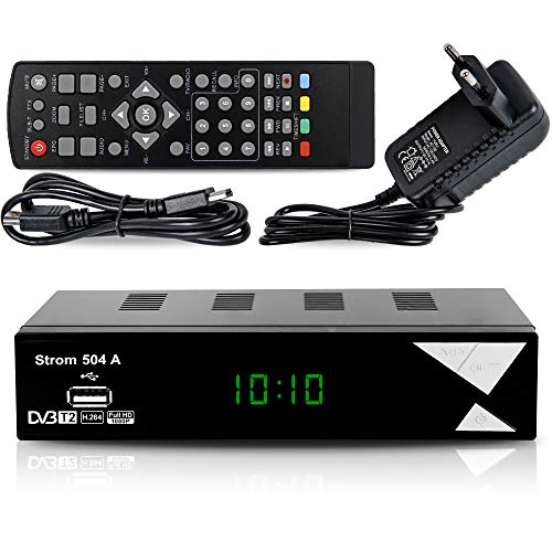 Strom 504 Decodificador Digital Terrestre – TDT   DVB T2   Full HD   HDMI   Receptor TV   USB   H.265 HEVC   TDT Television   DVB-T2   4K