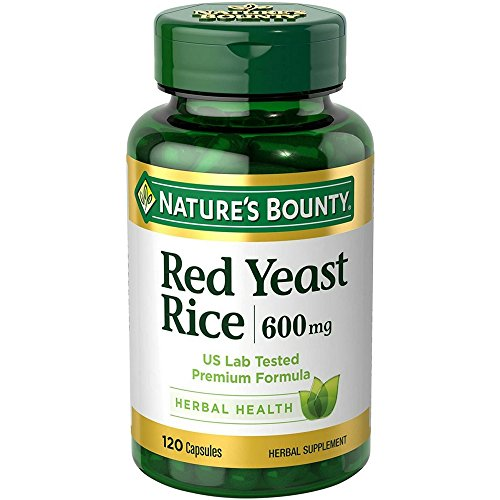 Nature's Bounty Red Yeast Rice 600mg 120 Capsules (Pack of 3)