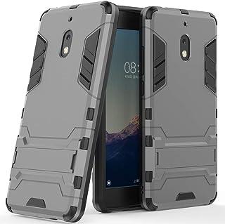 Nokia 2V Case, Nokia 2.1 Case, Telegaming Dual Layer Hybrid Tank Armor Case with Kickstand Shock Absorption Impact Protective Soft TPU & Tough PC Back Cover for Nokia 2.1 (2018) / 2V