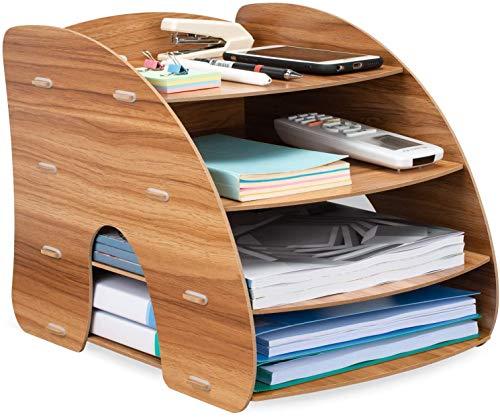 Oficina Organizador, Bandeja de Relleno, Organizador para Papel A4, Letras, Archivos y Documentos (Organizador Escritorio)