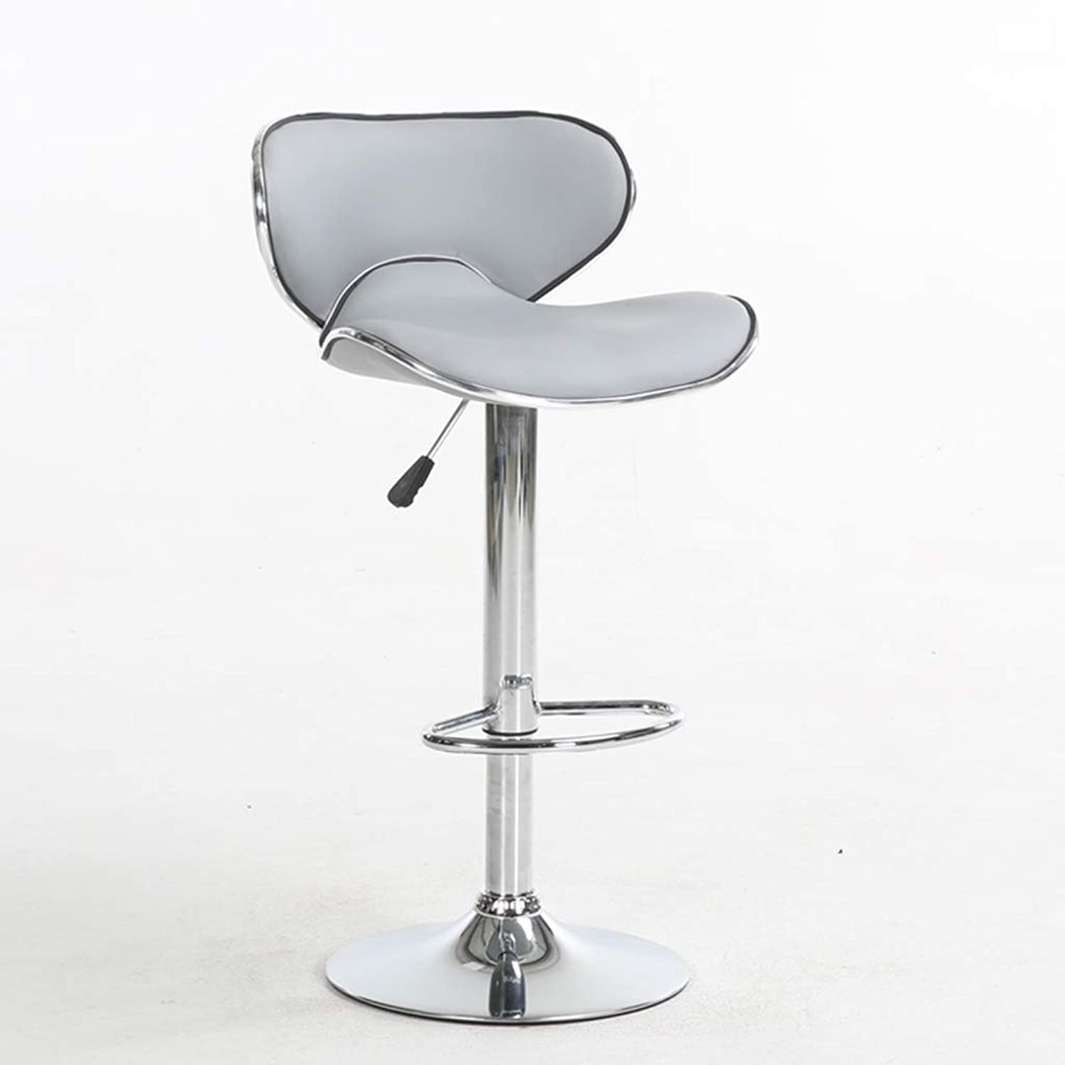 Barstools Bar Stool with Wingback seat, PVC Interior with Adjustable Height and Light Footstool (color  Black)