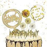 Decoración para tartas de cumpleaños, 13 unidades, decoración para tartas, diseño con texto 'Happy Birthday'