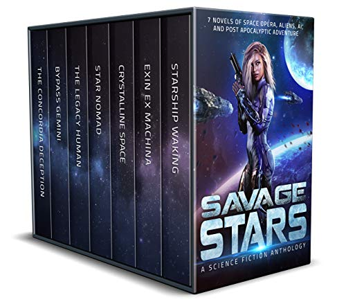 Savage Stars: 7 Novels of Space Opera, Aliens, AI, and Post Apocalyptic Adventure by [C. Gockel, G. S. Jennsen, A. K. DuBoff, Lindsay Buroker, Susan Kaye Quinn, Joseph R.  Lallo, J. J.  Green]