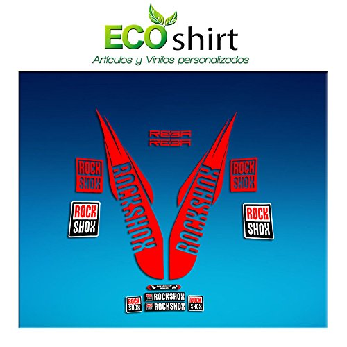 Ecoshirt RO-R44O-L00K sticker Fork Rock Shox Reba 2018 Am172 sticker decals sticker vork rood