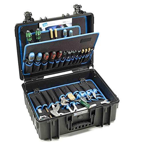 B&W Werkzeugkoffer JET 6000 mit Werkzeugeinsteckfächern (Koffer aus PP, Volumen 29,3l, 45,8 x 33,7 x 19 cm innen) 117.18/P, ohne Werkzeug