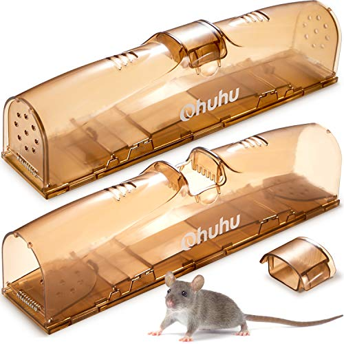 Mouse Trap qui fonctionnent instantan/ément r/éponse rapide R/éutilisable Rat Trap plastique P/édale sourici/ères Easy Mouse Attraper Catchers Couleur Jaune Noir 6Pcs