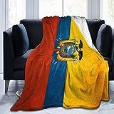 shenguang Manta de Forro Polar Retro Bandera de Ecuador Rayas Microfibra Ropa de Cama Ligera Mantas Ropa de Cama súper Suave Sofá de Lujo Acogedor Esteras de Yoga cálidas Mantas Tamaño de Tiro 5