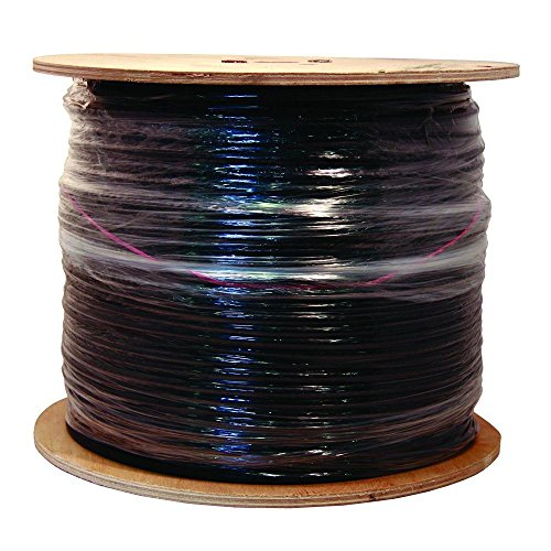 Southwire 56918445 500-Feet Quad Shields Type RG 6/U 18 AWG Coaxial Cable, Black by Southwire