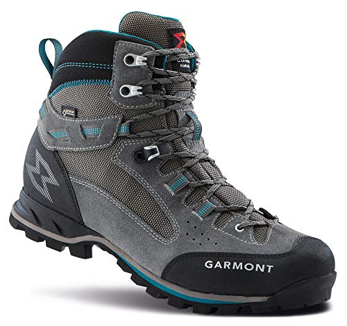GARMONT W Rambler 2.0 GTX Grau, Damen Gore-Tex Wanderschuh, Größe EU 37 - Farbe Warm Grey - Aquablue