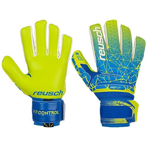 Reusch Fit Control G3 Negative Cut Finger Support Torwarthandschuh, Blue/Lime/Lime, 10