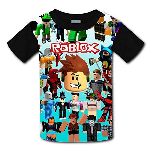 Maichengxuan Niños/Juventud Dabbing Ro-blox Camisetas 3D Manga Corta Niños y Niñas Camisetas de Verano