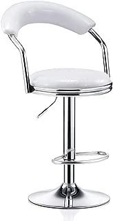 NMDB Chaise Bar Chaise Bar pivotante 360 degres avec Hauteur reglable Chaise Bar Moderne avec Mini Chaise Retour Maison  Couleur Blanc  Taille