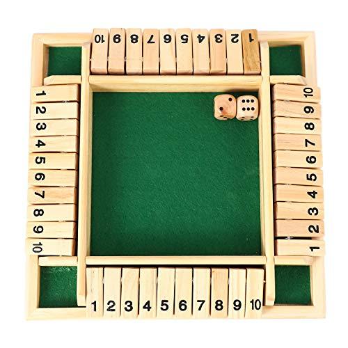 Fltaheroo 4 Jugadores Juego de Mesa Rompecabezas Digital Cierra La Caja Colección de Juegos Juegos de Beber de Número para Amigos / Familia