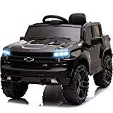 Little Brown Box 12V Licenced Chevrolet Silverado Ride On Truck for Kids to Drive - Battery Powered Ride On Toy w/ Remote Control, Sounds, Lights,2 Speeds,Electric Car for Kids, Toddler,Baby
