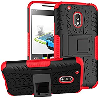 Yhuisen Moto G4 Play Case,New Dual Layer Hybrid Armor Case Detachable [Kickstand] 2 In 1 Shockproof Tough Rugged Case Cove...