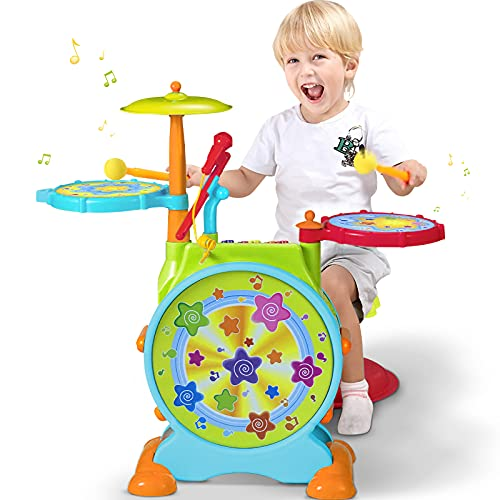 Early Education 3 Year Olds Baby Toy Dynamic jazz drum,Early Learning ,Baby...
