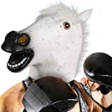Halloween mask Latex Animal white horse Adult&Kid Deluxe Handmade Funny Overhead Mask Costume Party Cosplay