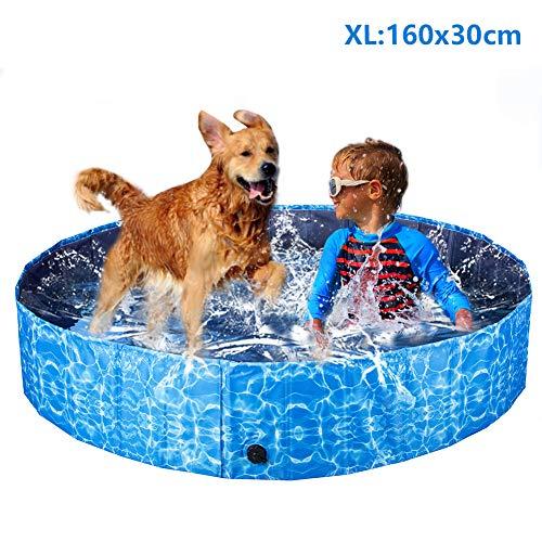 XIAPIA Piscina Perros Grande,Plegable Bañera para Perros