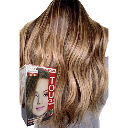 Touchcolor Hair Color Medium Blonde 80ml, Hair color cream, Permanent hair color, Hair dye, Highlights …