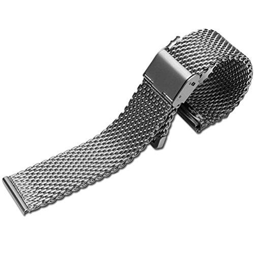 ドットタウン 腕時計ステンレスベルト メッシュ Ticwatch モトローラ MOTO2 360取付タイプ MSB114-B-ST22 [並行輸入品]