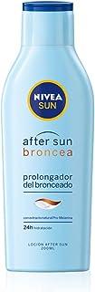 NIVEA SUN After Sun Loción Prolongadora del Bronceado (1 x 200 ml), loción hidratante con extracto natural promelanina para un bronceado solar duradero