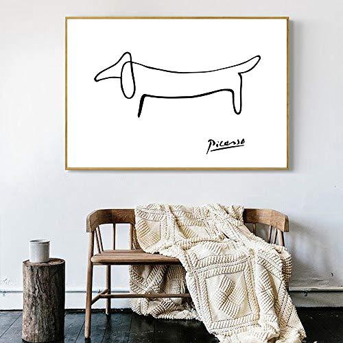 Puzzle 1000 Piezas Perro de Arte nórdico Abstracto Puzzle 1000 Piezas clementoni Juego de Habilidad para Toda la Familia, Colorido Juego de ubicación.50x75cm(20x30inch)