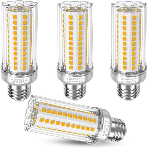Ampoule LED E27 16W Ampoule Maïs LED Blanc Chaud 3000K,1900LM Lumineux Équivaut à Ampoule Halogène Incandescente 120W 150W,Haute Luminosité IRC85,360°Faisceaux LED,Non Gradable,108*2835 SMD,Lot de 4