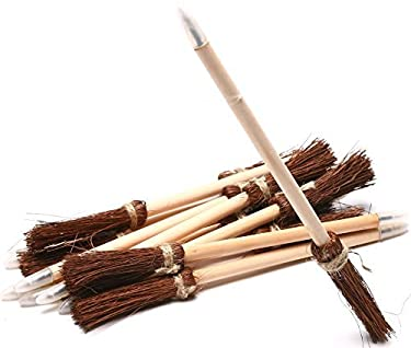 Witch Broom Halloween Pens - 12 Pack (Quidditch Hogwarts Style Broom Pens)