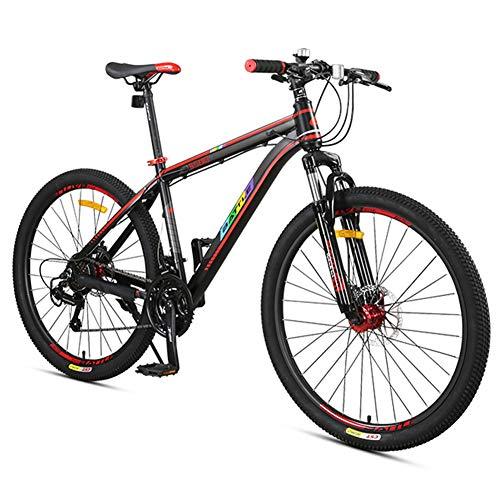 Nengge Mountainbike, 27 versnellingen, vering, voorwielvork, stijf, voor volwassenen, meisjes, jongens, dubbele schijfrem, terreinvoertuig