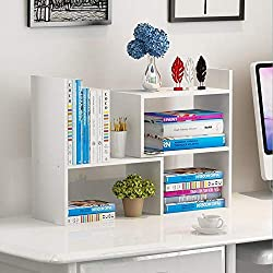 white desk storage shelf